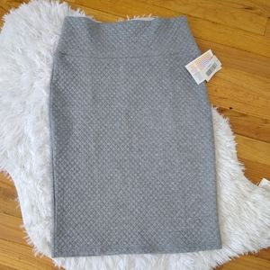 NWT Solid Gray Quilted Cassie Pencil Skirt Size S